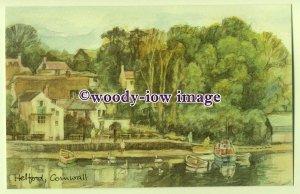 DS030 - Cornwall - Helford Village & Harbour, Artist - David Skipp - Postcard