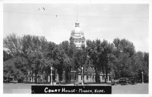 Minden Nebraska Court House Exterior Real Photo Antique Postcard K18745