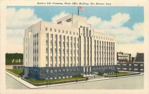 Des Moines Iowa~Bankers Life Co~Home Office Bldg~Ivy Covered Lower Floors~1940s
