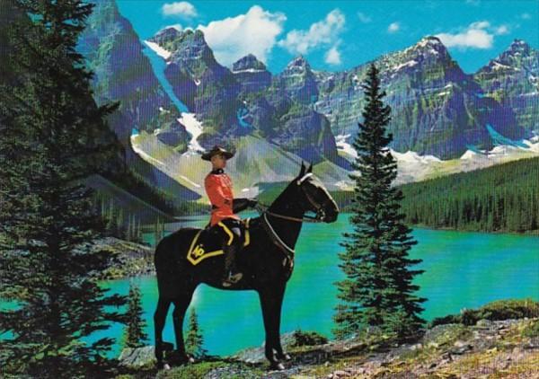 Canada Royal Canadian Mounted Police On Horseback