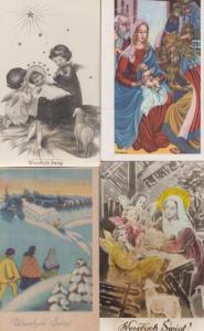 Polish Nativity  4x Christmas Poland Set of Postcard s