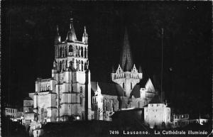 Lausanne La Cathedrale Illuminee Dom Cathedral 1956