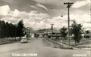 canada, SMITHERS, B.C., Main Street, Car (1960s) Louis Studio RPPC Postcard