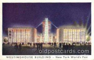 Westinghouse Bldg. New York Worlds Fair 1939 Exhibition Unused wear left top ...