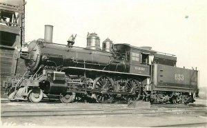 Railroad, Wabash, Engine No. 653, Train, No. 750, RPPC