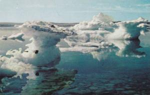 Picturesque Ice Berg in Newfoundland Harbour,  Canada,  40-60s