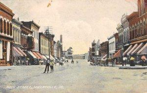 Shelbyville Illinois Main Street Vintage Postcard JI658444