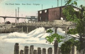 canada, CALGARY, Alberta, Bow River, The Flood Gates (1910)