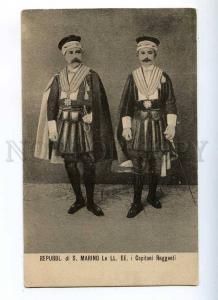 191415 Repubbl. SAN MARINO Capitani Reggenti Vintage postcard