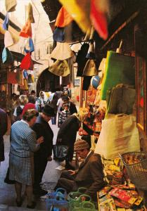 JERUSALEM, Street scene in the Old City, Labyrinth of narrow streets & lanes,...