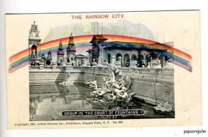 Pan-American Expo Rainbow City Fountains Postcard