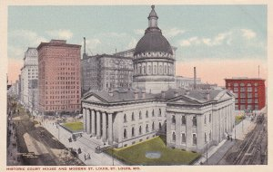 ST. LOUIS, Missouri, 1900-1910s; Historic Court House And Modern St. Louis