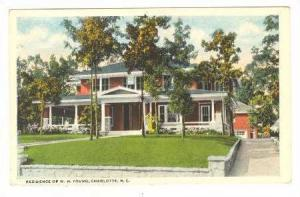 Residence of W.H. Young, Charlotte, North Carolina, 00-10s