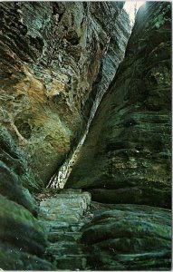Postcard~Fat Woman's Squeeze~Cantwell Cliffs~Hocking State Park~Logan,Ohio~A32