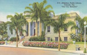 Florida Orlando Albertson Public Library 1943 Curteich
