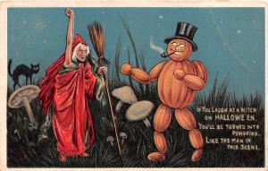 Halloween Post Card Old Vintage Antique Nash 1915
