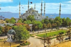 Turkey Istanbul Blaue Moschee und Kaiser Wilhelm II, The Blue Mosque Fountain