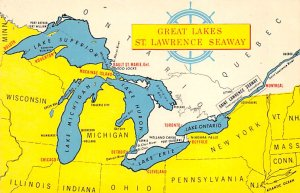 Maps Great Lakes St Lawrence Seaway Detriot, Michigan, USA Unused