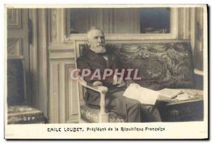Old Postcard Emile Loubet President of the Republic