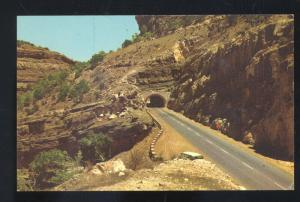 CLOUDCROFT HIGHWAY NEW MEXICO ROAD TUNNEL VINTAGE POSTCARD N.M