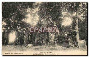 Old Postcard Lourdes Calvary Station