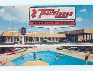 Unused Pre-1980 TRAVELODGE MOTEL Amarillo Texas TX c0322