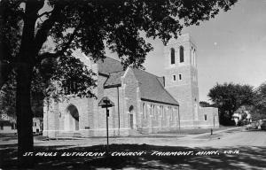 Fairmont Minnesota St Pauls Lutheran Church Real Photo Antique Postcard K15988