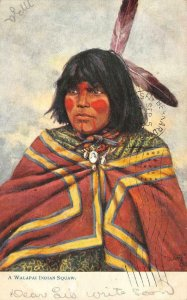 A Walapai Indian Squaw Native American Indian Hualapai 1908 Vintage Postcard