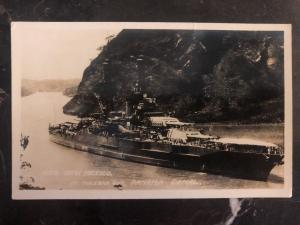 Mint USA RPPC Postcard USS New Mexico At Panama Canal