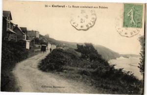 CPA CARTERET - La Route conduisant aux Falaises (245740)