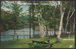 Greetings From Marshfield,WI Postcard