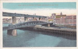 High Level & Swing Bridges, Newcastle-on-Tyne, Northumberland, England, Unite...