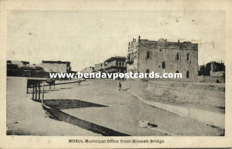 iraq, MOSUL MOSSOUL, Municipal Office from Ninoveh Bridge (1924)
