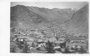 H12/ Georgetown Colorado RPPC Postcard c1910 Birdseye Church Home 2