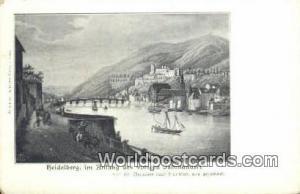 Heidelberg Germany, Deutschland Postcard Im Anfang des vorigen Tahrhundert  I...