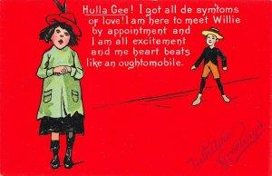 Valentine Hulla Gee! Valentine's Day Raphael Tuck #5 Postcard