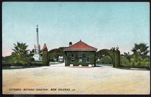 Louisiana ~ NEW ORLEANS Entrance Metairie Cemetery - Divided Back - Vintage