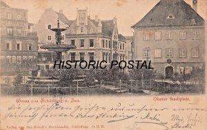 SCHARDING i. INN. AUSTRIA~OBERER STADTPLATZ~~1900 JOS. HEINDL POSTCARD