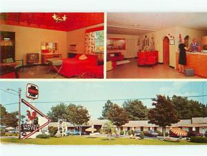 Vintage Post Card Gamecock Motel Restaurant Interior Santee  S C   # 4308