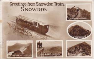 RP, 6-Views, Train, Greetings From Snowdon Train, Snowdon, Wales, UK, PU-1956
