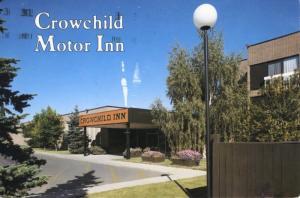 Crowchild Motor Inn Calgary AB Alta Alberta Hotel c1991 Postcard D11