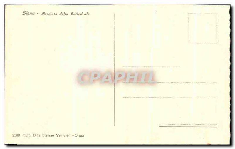 Postcard Old Siena Facciata della Cattedrale