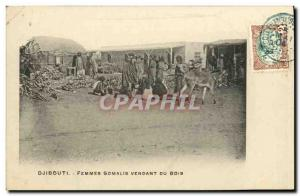 Old Postcard Djibouti Somali Women somalsi selling wood TOP