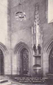 Pennsylvania Philadelphia Credence Table & Doorways In St Andrews Collegiate ...