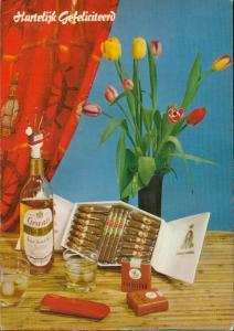 Cigar box cigarettes Caballero grant's Scotch Bottle  hartelijk gefeliciteerd