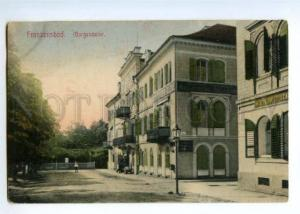 147205 Czech FRANZENSBAD Hotel Belvedere Vintage postcard