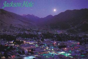 Wyoming Jackson Hole At Night