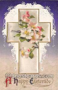 Happy Eastertide Silk Cross, Pub. Winch Writing on back