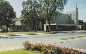 Exterior,  St. Peters Catholic Church,  Oshkosh,  Wisconsin,  40-60s