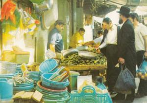 Vegetable Grocer Stall on Jerusalem Markets Isreal Market Postcard
